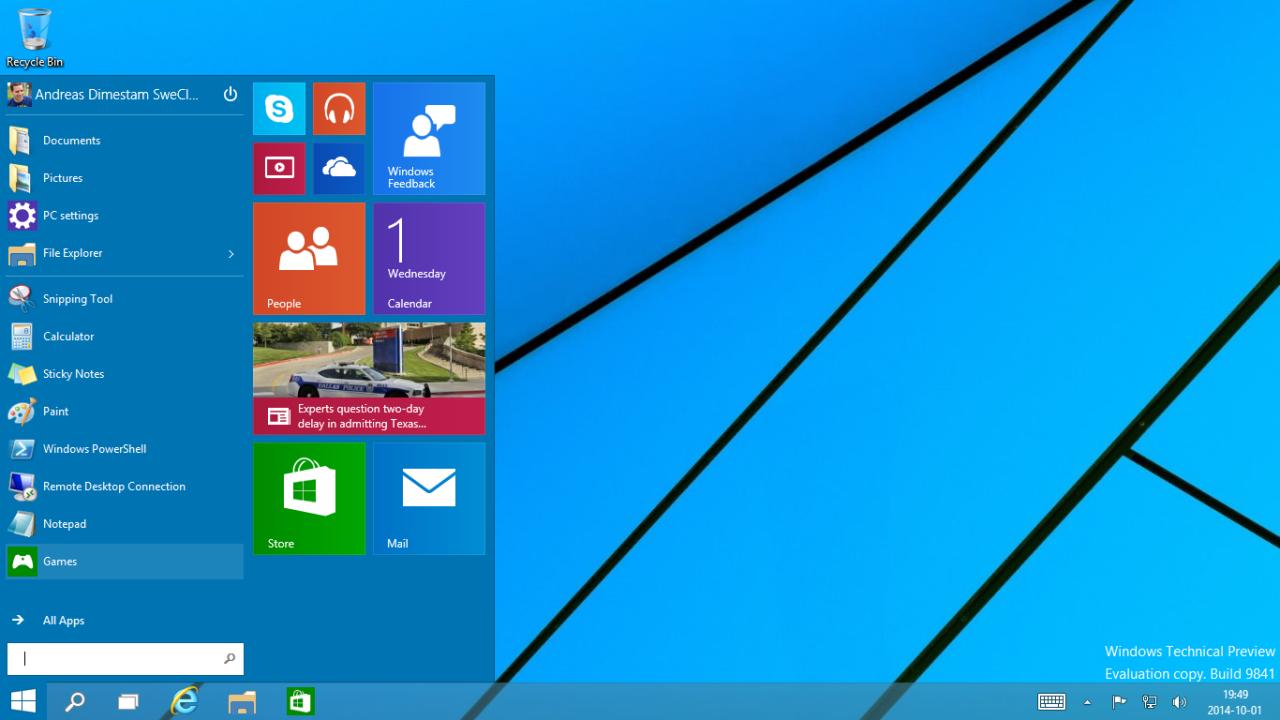 windows 10 startmenyn fungerar inte