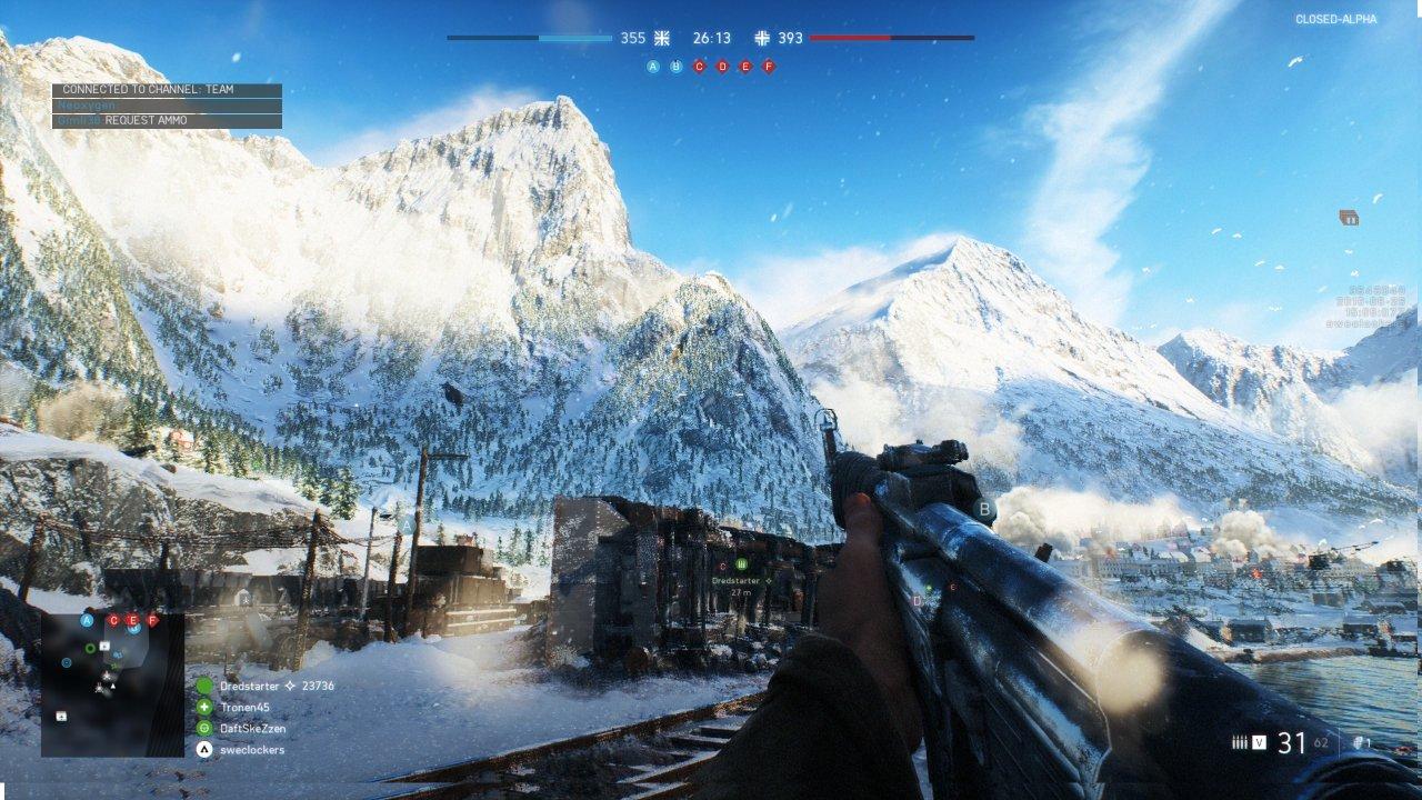 Snabbtest: Battlefield V Closed Alpha – sju grafikkort i snöig